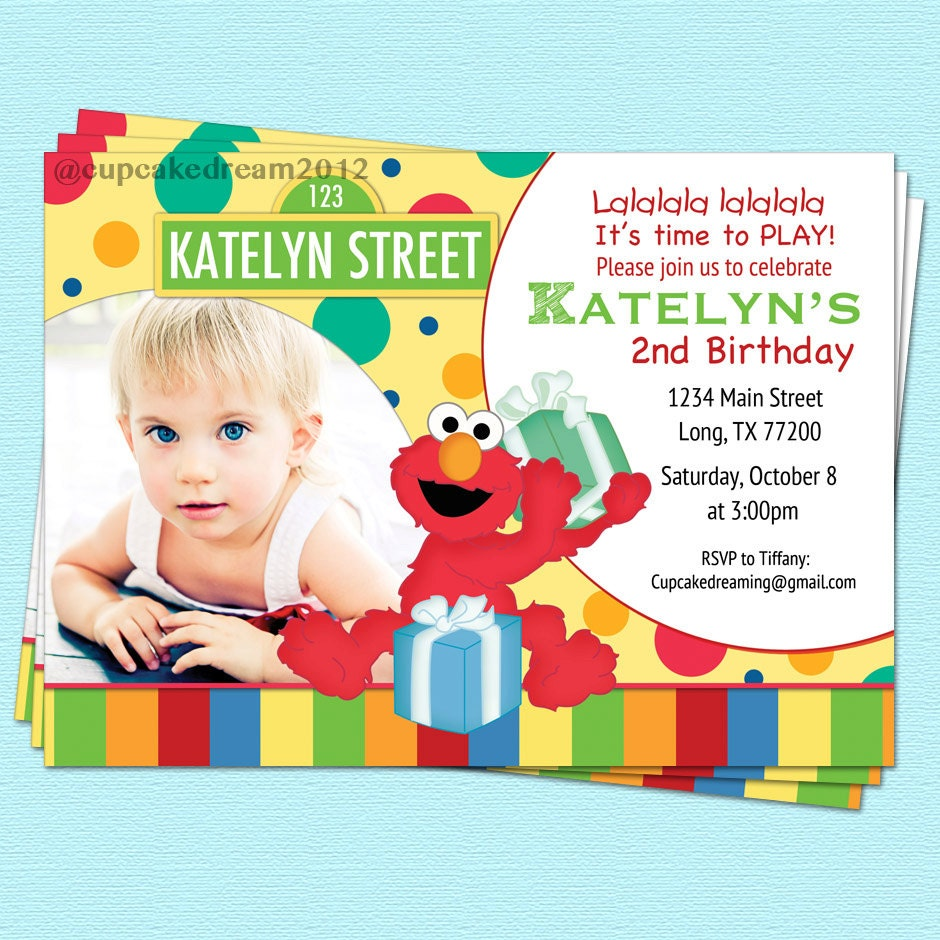 Sesame Street Invitation Elmo Birthday Printable by ...
