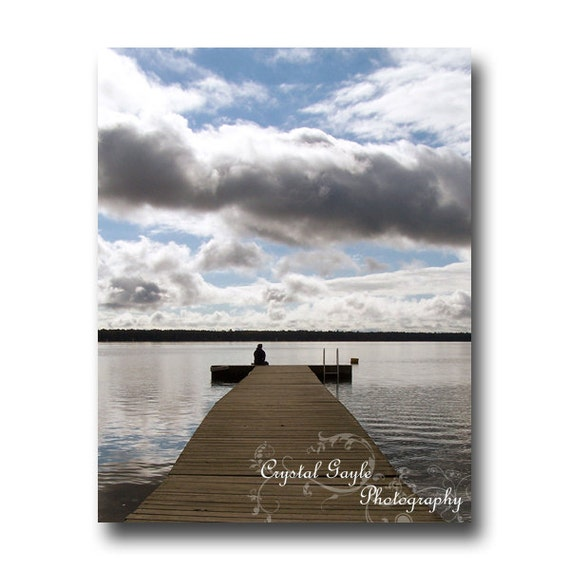 Beach Photography, Lake House Wall Art, Serene Resort Lounge Decor, 8x10 8x12 11x14 12x18 Inch Waterscape, Lodge Accent, Bathroom Picture