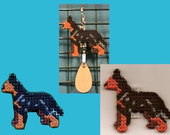 Manchester Terrier Toy  crate tag or hang anywhere hand stitched decorative accessory, Magnet option
