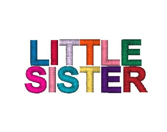 Little Sister Embroidery Machine Design 10670