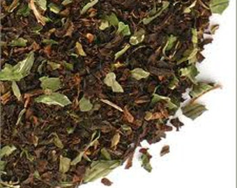 1 oz Dark chocolate mint black tea.