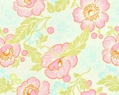 Midwest Modern Fresh Poppies Ivory - by Amy Butler- Quilt Fabric Yard- 1/2 Yd BTY for Free Spirit