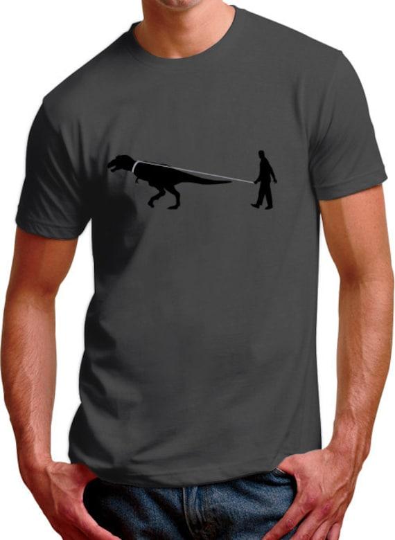 Man Walking Dinosaur Mens T-Shirt