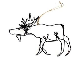 Moose Ornament, Wire Ornament, Wire Sculpture,153684193