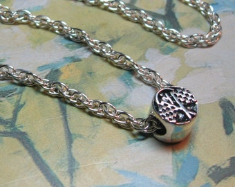 Checkered Flag Necklace - Large Hole Bead