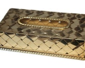 Vintage Solid Brass Tissue Box Cover