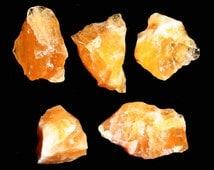 Orange Calcite Crystal Specimen