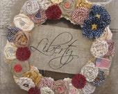 Patriotic Rosette Wreath