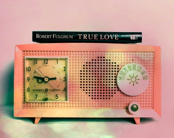 Fine Art Photograph, Pink, Antique Radio, Retro Decor, Old Radio, Bokeh, Still Life Photo, True Love, Vintage Radio, Art Print, Home Decor