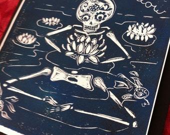 As Above, So Below - Buddha Lotus Pond, Sugar Skull