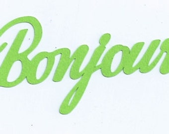 Bonjour French word silhouette