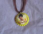 Fairies Bottlecap Necklace