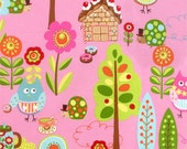 Pink Owl Print from the Cherry On Top Collection, by Moda, 1 yard