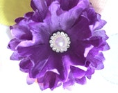 Deep Purple 2.5 Inch Vintage No Slip Flower Clip
