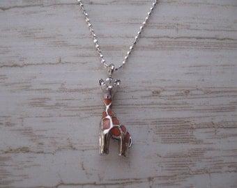 Giraffe Necklace, Giraffe Charm, Dainty Charm Necklace, Sterling Silver Giraffe Pendant Necklace, Tiny Giraffe Necklace, Childrens Jewelry