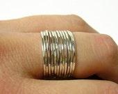 Sterling silver ring set layering rings Sterling silver stacking rings thin stacking ring stackable rings