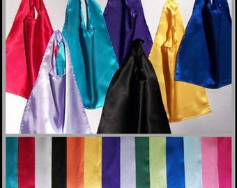 Plain Satin CAPES for Infants, Toddlers and Children