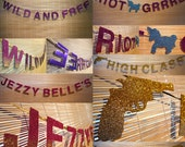 Custom Ombré Glitter Message Garland, New Colours Available