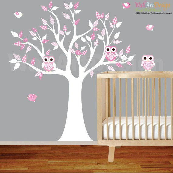 wall decals nursery nursery wall decal elephant by pink owl wall decals owl stickers owl nursery wall decor