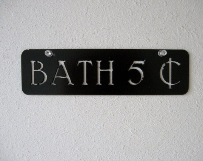 Metal Bath Sign