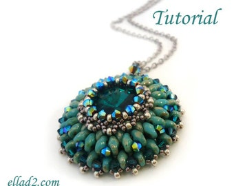 Tutorial Eau de source pendant - Beading tutorials PDF