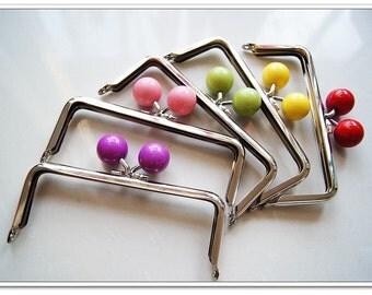 5pcs 12cm silver color bubble  purse frame purse making supplies