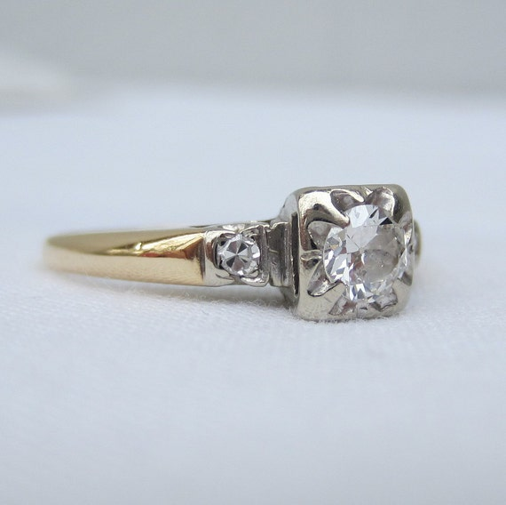RESERVED. Vintage Old European Cut Diamond Engagement Ring. Addy on Etsy.