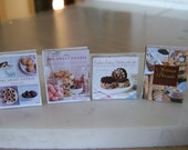 BAKING COOKBOOKS - Cookies Brownies Artisan Breads - Dollhouse Miniature 1:12 Scale