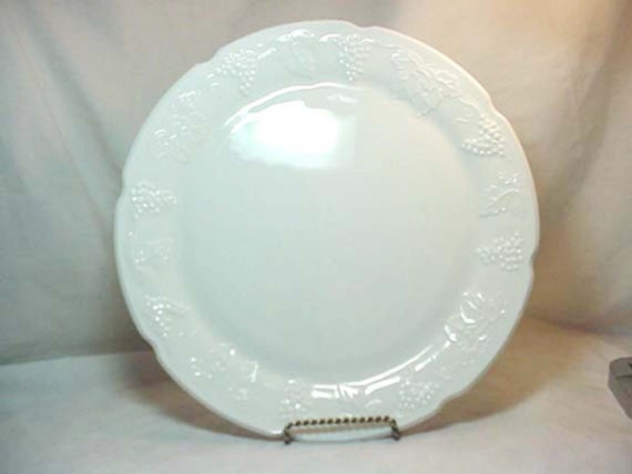 Extra Large White Milk Glass Serving Platter 1930s