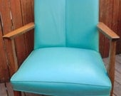 Teal Mid Century Office Chair - dishreincarnation