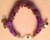 The Sultan Beaded Bracelet with Sari Silk