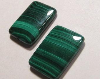 Malachite beads ...              2 pieces ........               25 x 18 x 5 mm           .......                a253