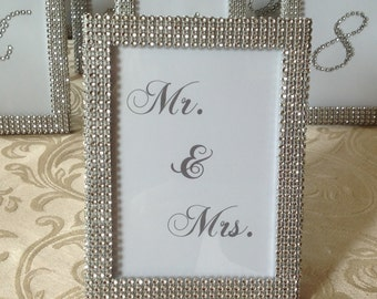 set of 1 5 x 7 mr and mrs frame in silver