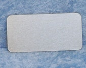 Aluminum labels, 2.75 inches by 1.375 inches, adhesive back, FREE custom engraving