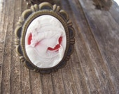 Beautiful creatures Lena inspired cameo ring -  book inspired charms