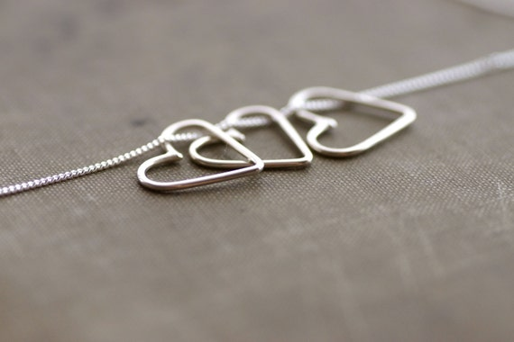 Many Hearts Necklace on Sterling