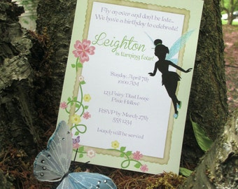 Fairy Birthday Party Custom Invitations - Garden Fairy Collection