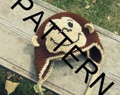 Monkey Hat Crochet Pattern Curious George (Sizes 1-2yrs and Child)