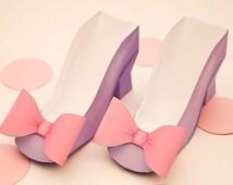 High Heel  Favor Box - DIY Printable Shoe with Bow PDF