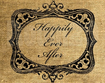 INSTANT DOWNLOAD - Happily Ever After in a Frame - Download and Print - Image Transfer - Digital Sheet by Room29 - Sheet no. 874