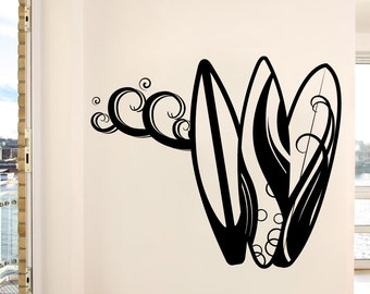 Vinyl Wall Decal Sticker Surf Boards 1063m