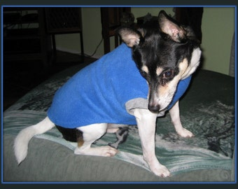 "BuddyWear Fleece Sweatshirt for Chinese Cresteds, Rat Terrier, Poodles, and  dogs up to 20""."