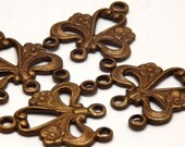Vintage Patna Brass Floral Connectors (4)  - VP043