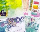 backgrounds art journal collage sheet set