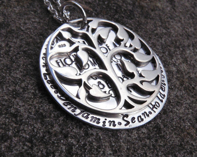 The Seeds of Today - Sterling Silver Family Tree/Phrase Necklace