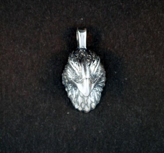 Eagle Head Pendant in Sterling Silver