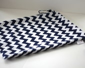 Wet Bag - Extra Large - Navy Chevron - Custom Made to Order
