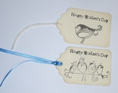 Happy Mother's Day Handmade Gift Tag with Ribbon or String You Choose Style