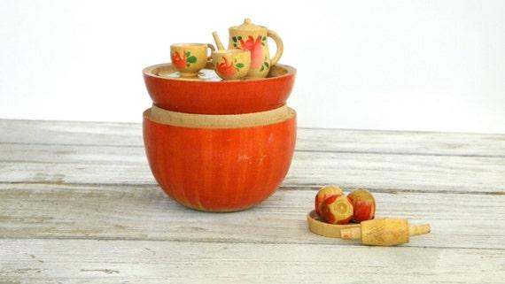 Oh So Adorable Vintage Tea Set : ... Tea Set Miniature Hand Painted Japan Nesting Box 12 Pieces SO CUTE