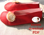 Sewing. Pattern. Woman. Ballerina. Shoes. Slippers. DIY. PDF. Pattern